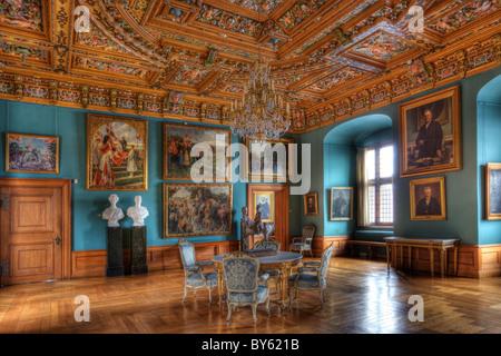 Inside Frederiksborg Castle in Denmark - Stock Image