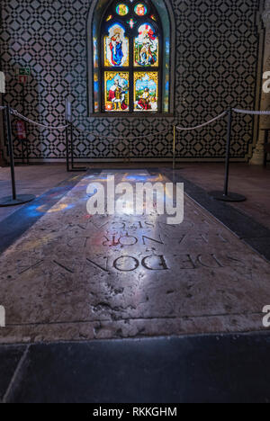 In the chapel of Pena palace. Sintra, Portugal - Stock Image