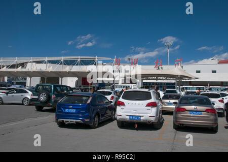 International airport at Gongkar, Lhasa, Tibet, China - Stock Image