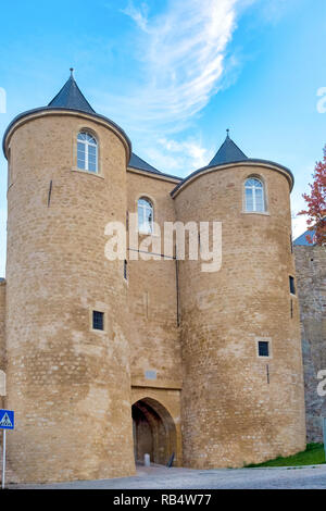 Spanish turret in the fortifications of Luxembourg City, Luxembourg - Stock Image