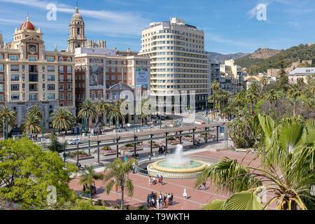 Plaza de la Marina, Malaga, Costa del Sol, Malaga Province, Andalusia, southern Spain. - Stock Image