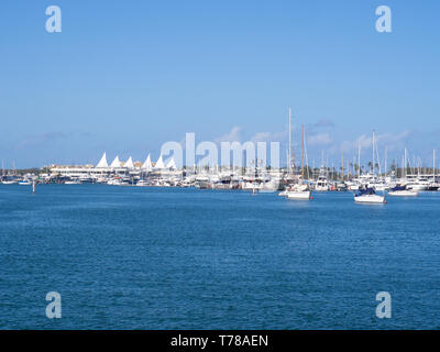 Boats At Marina Mirage On The Gold Coast - Stock Image