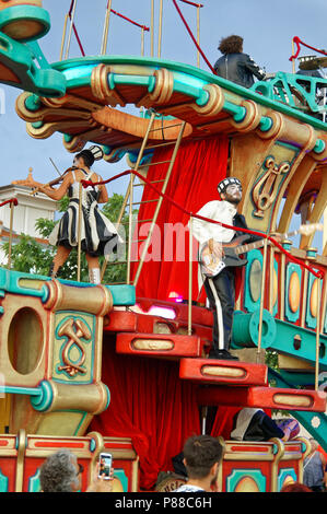 Feast of the Saint Peter of the Sea in Cagnes/Mer, french Riviera, July 2018 - Stock Image