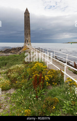 Chaine Memorial Tower, in memory of James Chaine, who established shipping routes from port of Larne, County Antrim, N.Ireland. - Stock Image