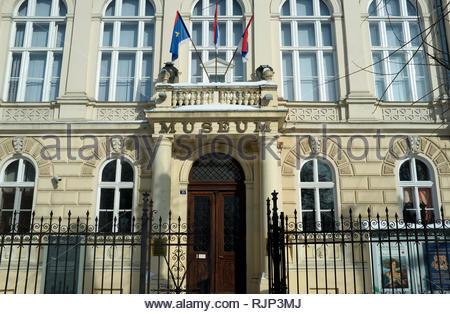 The Museum of Vojvodina, in the city of Novi Sad, Vojvodina, Serbia. - Stock Image