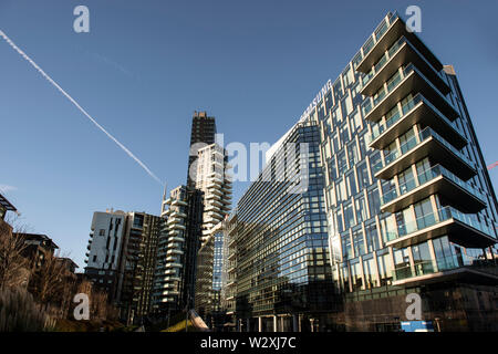 Italy, Lombardy, Milan, Samsung District - Stock Image