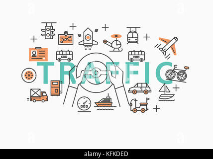 Infographic illustration related to TRAFFIC - Stock Image