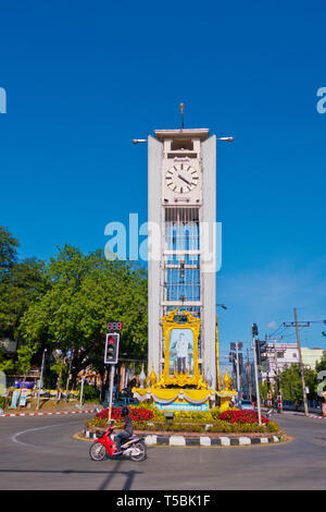 Clock tower, Trang, Thailand - Stock Image