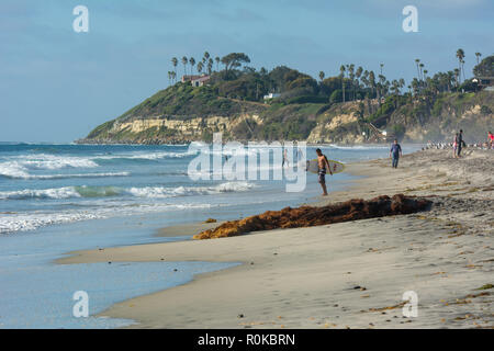 San Elijo State Beach, San Diego, California - Stock Image