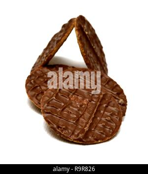 Hobnobs milk chocolate thins - Stock Image