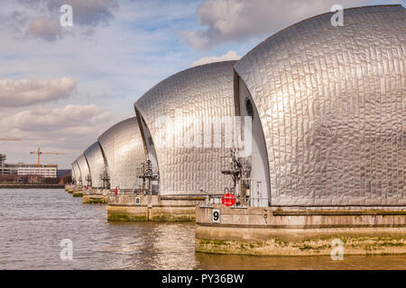 Thames Barrier, London. - Stock Image