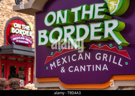 On the Border Mexican Grill & Cantina restaurant in Buford, Georgia near Atlanta. (USA) - Stock Image