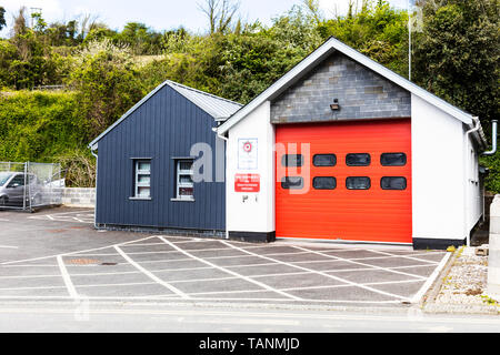 Devon & Somerset fire & rescue service, Salcombe, Devon, UK, England, Fire station, Salcombe fire station, Community fire station, building, sign, - Stock Image