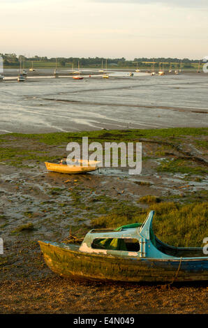 Tidal section of River Stour - Stock Image