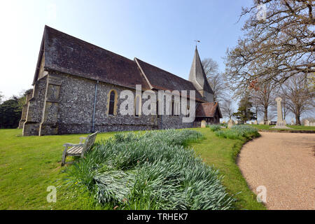St Marys, Church, Barcombe, East Sussex, UK - Stock Image