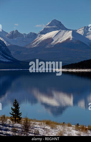 Rocky Mountains Winter Fall Kananaskis Spray Lakes - Stock Image