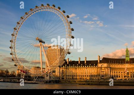 The London Eye Ferris Wheel - Stock Image