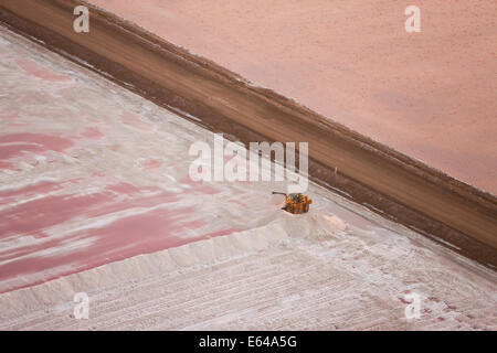Salt works, Aerial view, Namibia - Stock Image