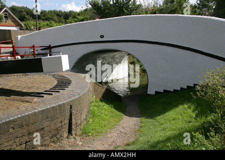 Bridge 176 at Springwell Lock on the Grand Union Canal, Hertfordshire - Stock Image