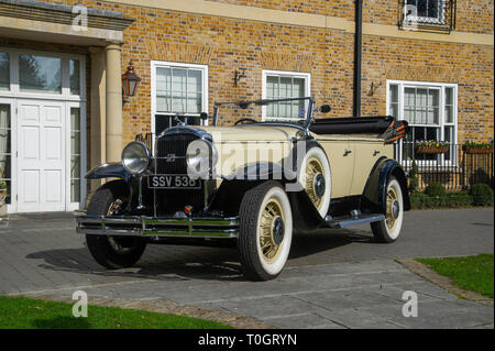 1930 Buick vintage American cat, built by Holden in Australia - Stock Image