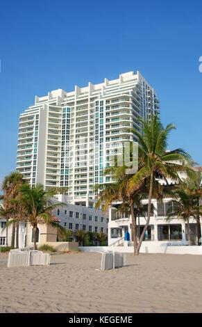 waterfront buildings fort lauderdale florida - Stock Image