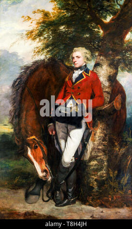 Captain George K. H. Coussmaker (1759–1801), portrait painting by Sir Joshua Reynolds, 1782 - Stock Image