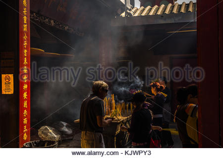 Buddhist Temple in Macau China - Stock Image