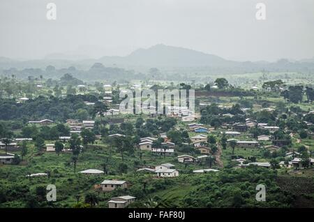 Landscape on the edge of Bo, Sierra Leone. - Stock Image