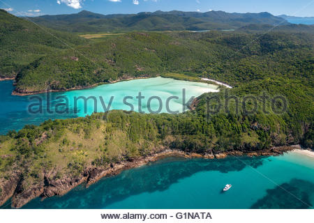 Whitsunday island in Queensland (Australia) - Stock Image