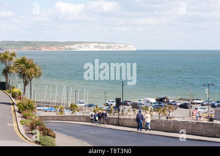 View from Hope Hill in Shanklin towards Culver Down on the Isle of Wight - Stock Image