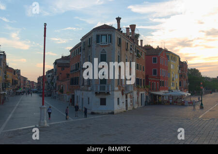 The house of John Cabot in Venice Italy early morning - Stock Image