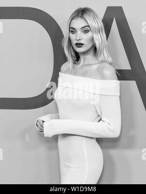 New York, NY - June 03, 2019: Elsa Hosk attends 2019 CFDA Fashion Awards at Brooklyn Museum - Stock Image