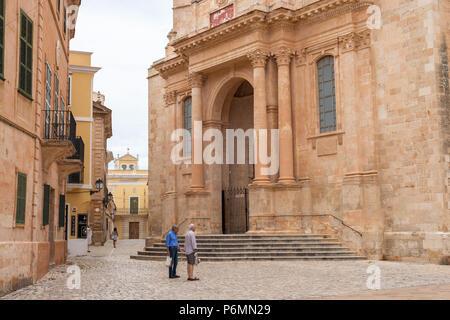 Cathedral de Santa Maria, Ciutadella, Menorca, Balearic Islands, Spain - Stock Image
