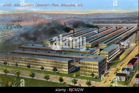 Allis-Chalmers Company plant, Milwaukee, Wisconsin, USA, manufacturers of agricultural machinery such as tractors. - Stock Image