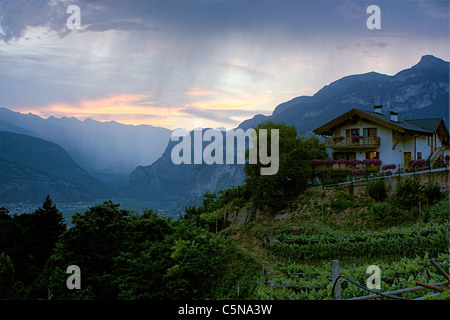 Dolomite Alps, Faedo, Trentino, Italy - Stock Image
