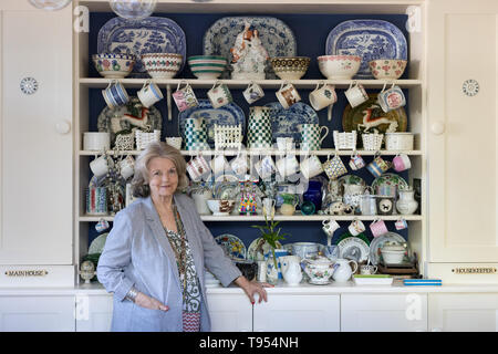 Polly Devlin, Author at home in London - Stock Image