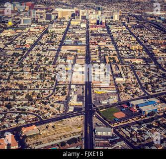Las Vegas, Nevada. Aerial shots - Stock Image