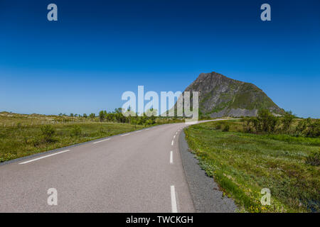 Gimsoya, Lofoten Islands, Norway - Stock Image