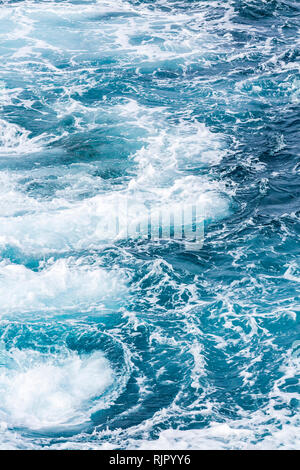 Abstract detail of swirling seawater next to the coast, Tenerife, Canary Islands, Spain - Stock Image
