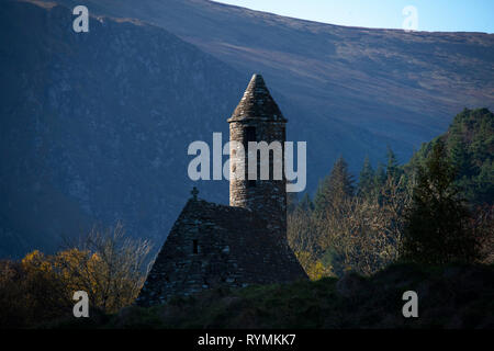 Saint Kevin's church at Glendalough in County Wicklow - Stock Image