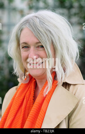 Hay Festival, Hay on Wye, Powys, Wales, UK - Wednesday 29th May 2019 - Author Deborah Kay Davies at the Hay Festival to talk about her book Tirzah and the Prince of Crows.  Photo Steven May / Alamy Live News - Stock Image