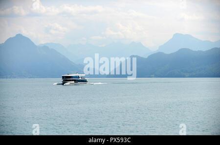 cruising on lake lucern, Switzerland - Stock Image