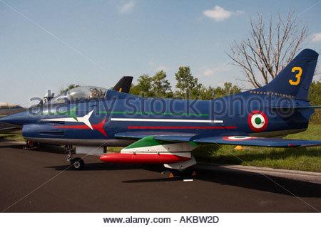 Rivolto Italia Air show 2005 Gina Fiat G91 - Stock Image