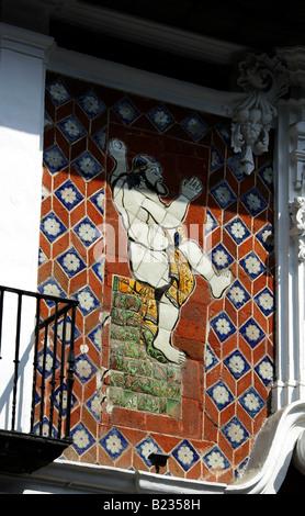 Casa de los Munecos, BUAP, University Museum, Puebla, Mexico. A UNESCO World Heritage Site famous for it's Talavera - Stock Image