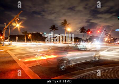 Miami night life - Stock Image