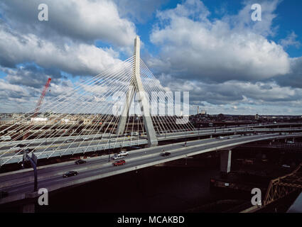 Leonard Paul Lenny Zakim) was a Jewish-American religious and civil rights leader in Boston. Zakim died in 1999 after a 5-year battle with bone-marrow cancer. Boston's Leonard P. Zakim Bunker Hill Bridge was named in his honor. - Stock Image