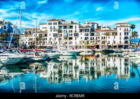 Marina Puerto de la Duquesa  Spain - Stock Image