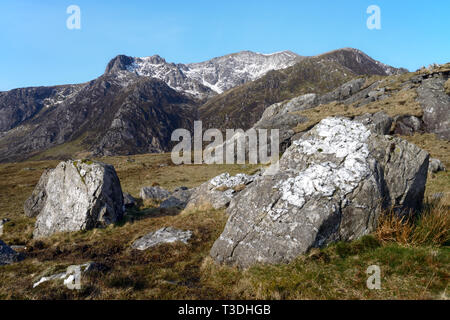 Y Garn is a mountain in the Glyderau range (the Glyders) in the Snowdonia National Park, Wales. - Stock Image