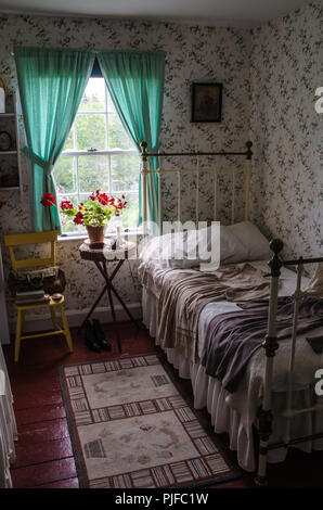 Bedroom at the museum home of Anne of Green Gables, Cavendish, Prince Edward, Island - Stock Image