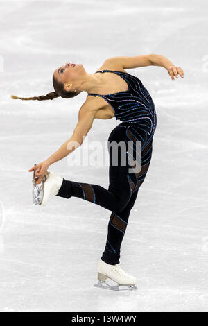 Loena Hendrickx (BEL) competing in the Figure Skating - Ladies' Short at the Olympic Winter Games PyeongChang 2018 - Stock Image